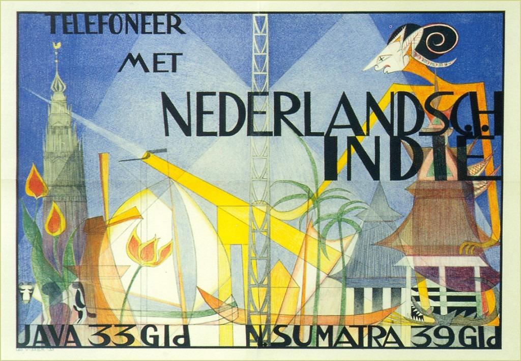 Telefoneren met Nederlandsch-Indië met rand