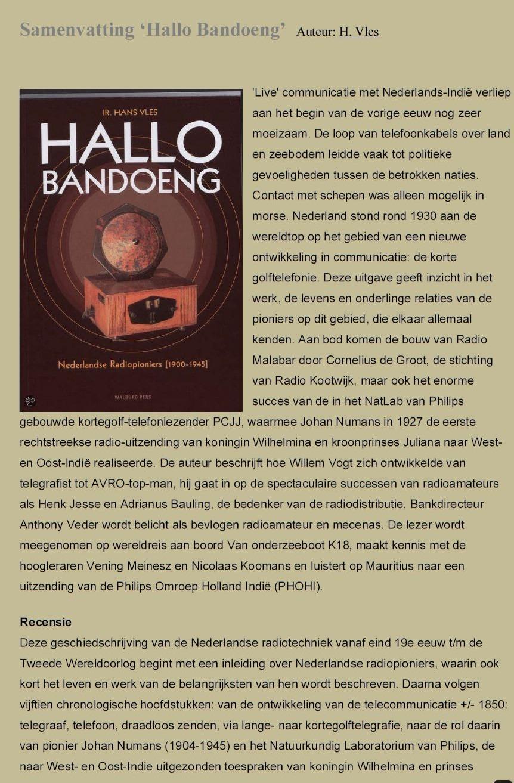 Hallo Bandoeng H.Vles -1